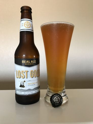 Real Ale Lost Gold IPA beer